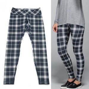 Lululemon Wunder Under Varsity Plaid Ghost Coal 10